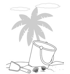 isolated sand bucket design vector image