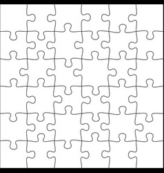 Jigsaws puzzles square puzzle 6x6 grid jigsaw vector