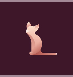 Logo with cat vector