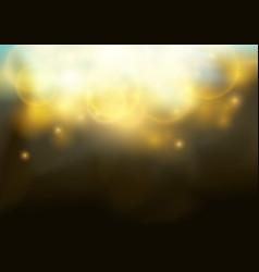 magical bokeh shine christmas light elegant glow vector image