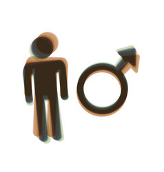 male sign colorful icon vector image