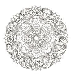 Mandala oriental pattern traditional round vector