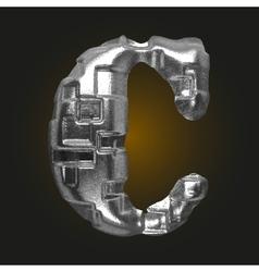 Metal figure c vector