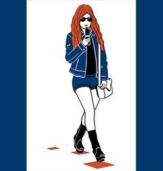 modern girl vector image
