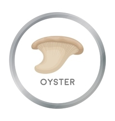 Oyster icon in cartoon style isolated on white vector