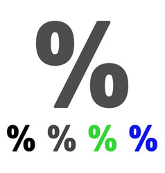 Percent flat icon vector