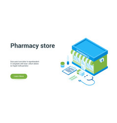 pharmacy store lp template vector image