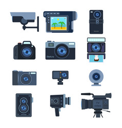 Photograph digital equipment camera vector