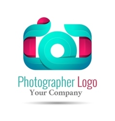 Photography studio photographer photo logo vector image