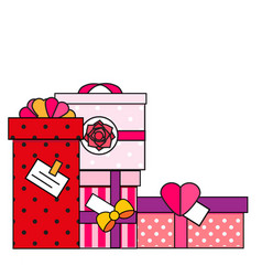 pink and red gift boxes clip art vector image