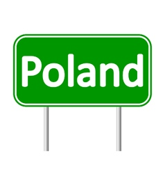 Poland road sign vector