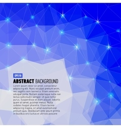 Polygonal abstract blue back for presentation vector