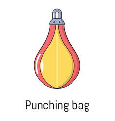 punching bag icon cartoon style vector image