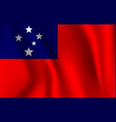 realistic waving flag waving flag samoa vector image
