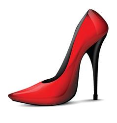 Red high heel vector