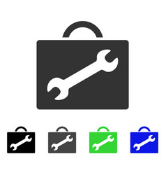 Repair equipment case flat icon vector