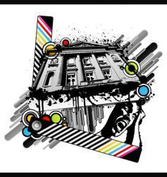 retro palace screams vector image