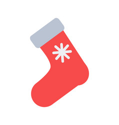 santa s red sock for putting christmas presents vector image