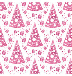 seamless pattern with stylized christmas vector image