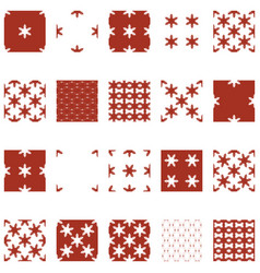 simple snowflake seamless set 03 vector image