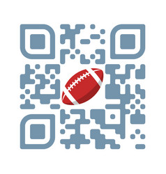 smartphone readable qr code play football vector image