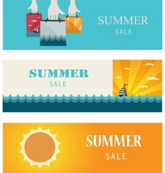 Summer Sale Vintage bannerscards vector image