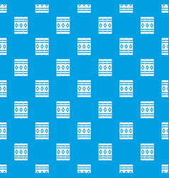 three literary books pattern seamless blue vector image