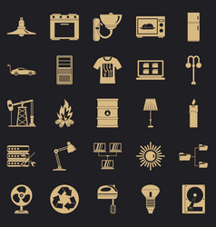 Transformer icons set simple style vector