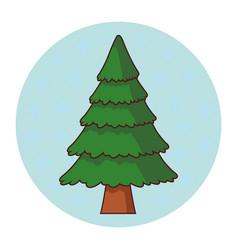 tree pine cartoon vector image