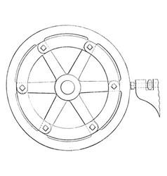 Turning hand wheels vintage vector