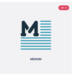 two color medium icon from user interface concept vector image