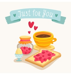 Valentines Day greeting card design with romantic vector image
