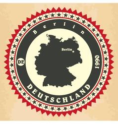 vintage label-sticker cards germany vector image