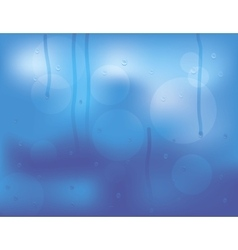Water drops on glass vector