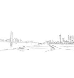 wuhan hubei china urban sketch vector image
