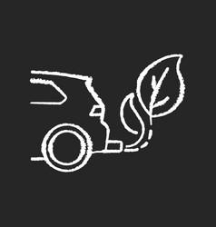 Zero tailpipe emissions chalk white icon on black vector