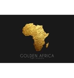 Africa Golden Africa logo Creative Africa logo vector image