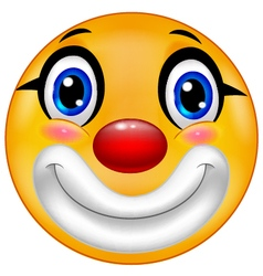 Clown emoticon vector image