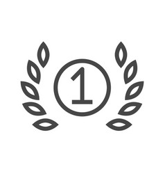 first place thin line icon vector image