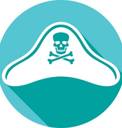 Pirate Hat Icon vector image