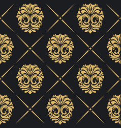 royal background baroque vector image