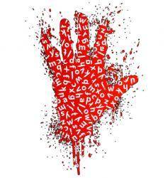stop words gesture design element vector image