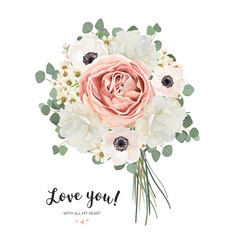 flower bouquet floral bunch card design vector image vector image