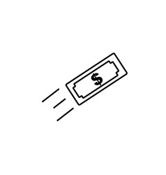 money transfer icon vector image vector image