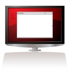 web browser monitor vector image