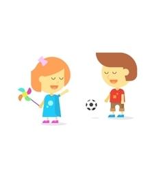 Happy kids playing smiling cartoon children boy vector image