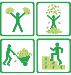people with money vector image
