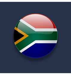 Round icon with flag of South Africa vector image vector image