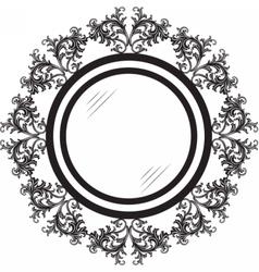 Vintage Retro Round frames vector image