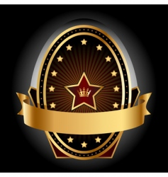 gold insignia vector image vector image